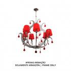 Ceiling Lamp DEBORAH 6xE14 H.Reg.xD.61,5cm Chrome