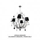 Ceiling Lamp DEBORAH 8xE14 H.Reg.xD.65cm Chrome