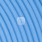 Flexible round fabric covered electrical cable H03VV-F 2x0,75 D.6.8mm cerulean TO428