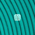Flexible round fabric covered electrical cable H03VV-F 2x0,75 D.6.8mm emerald TO429
