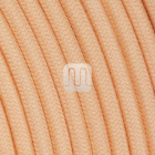 Flexible round fabric covered electrical cable H03VV-F 2x0,75 D.6.8mm tea TO431
