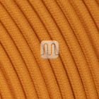 Flexible round fabric covered electrical cable H03VV-F 2x0,75 D.6.8mm caramel TO432