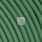 Flexible round fabric covered electrical cable H03VV-F 2x0,75 D.6.8mm light green TO433
