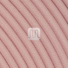 Flexible round fabric covered electrical cable H03VV-F 2x0,75 D.6.8mm antique pink TO434