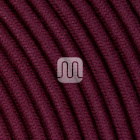 Flexible round fabric covered electrical cable H03VV-F 2x0,75 D.6.8mm aubergine TO436