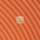 Flexible round fabric covered electrical cable H03VV-F 2x0,75 D.6.8mm tangerine TO439