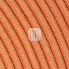 Flexible round fabric covered electrical cable H03VV-F 2x0,75 D.6.8mm salmon TO440