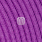 Flexible round fabric covered electrical cable H03VV-F 2x0,75 D.6.8mm wisteria TO441