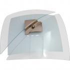 Plafond RESENDE square 2xE27 L.39xW.39xH.12cm Transparent