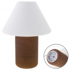 Table Lamp HERNER 1xE27 H.37xD.27cm Glass Brown/White