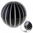 Table Lamp TOROPI 1xE27 H.20xD.20cm Glass White/Black
