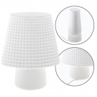 Table Lamp HERNER 1xE14 L.20xW.11,5xH.25cm Glass White