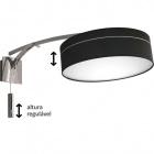Wall Lamp ATIBAIA 1xE14 L.40xW.90xH.50cm Black/Chrome