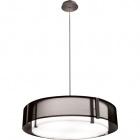 Pendant Light IVONE 4xE27 H.Reg.xD.65cm Black/Satin Nickel