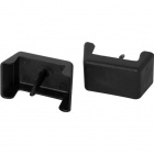 Black plastic cover for junction box with 2 poles 2,7x1,6x1,3cm