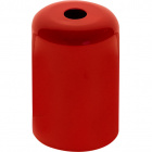 E27 cover for lampholder metal red