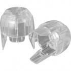 Transparent dome for E14 2-pieces lampholderw/threaded entry M10 and retainer, thermoplastic resin