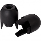 Black dome for E14 2-pieces lampholder with threaded entry, H.21mm, in thermoplastic resin