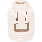 White dome for G9 lampholder Ref.5610 and retainer, in plastic