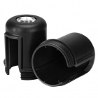 Black dome for E27 3-pc lamph. w/met. nip.M10, stem lock.screw, earth term., for switch, therm.resin