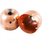 Copper plated dome for E27 3-pieces metal lampholder w/met. nip.M10 and stem locking screw, in metal