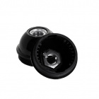Shiny black dome for E27 3-pc lampholder w/metal nipple M10 and stem lock. screw, thermopl. resin