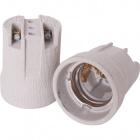 White E27 porcelain lampholder