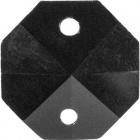 Crystal octagon stone D.1,4cm 2 holes black