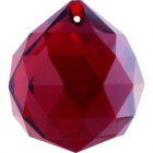 Crystal end stone D.4cm red