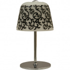 Table Lamp LURDES 1xE27 H.33xD.19cm White/Black/Chrome