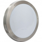 Plafond DOURO round IP44 2xE27 H.6,5xD.34cm Stainless Steel