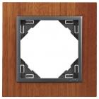 Espelho simples LOGUS 90 mogno/cinza