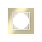 Espelho simples LOGUS 90 ANIMATO ouro/pérola