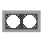 Espelho duplo LOGUS 90 alumina/cinza