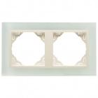 Espelho duplo LOGUS90 cristal/pérola