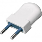 White rewirable plug 2P S10, 250Vac, 10A, IP20, in thermoplastic resin