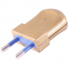 Gold rewirable plug 2P S10, 250Vac, 10A, IP20, in thermoplastic resin