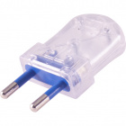 Transparent rewirable plug 2P, 250Vac, 10A, IP20, in thermoplastic resin