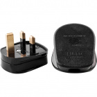 Rewirable english plug (UK) type G black with 3A fuse 2P+T, 250Vac, in thermoplastic resin