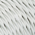 Twisted fabric covered electrical cable H07V2-K FRRTX 3x2,50 D.9.6mm white TR3
