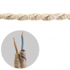Round fabric covered electrical cable 2x0,75mm2  jute TR415