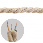 Round fabric covered electrical cable 3x0,75mm2  jute TR415