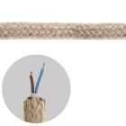 Round fabric covered electrical cable 2x0,75mm2 jute TO415