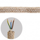 Round fabric covered electrical cable 3x0,75mm2  jute TO415