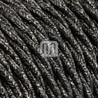 Twisted fabric covered electrical cable H05V2-K FRRTX 2x0,75 D.6.3mm canvas dark grey TR403
