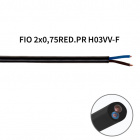 Round cable H03VV-F 2x0,75mm2 black