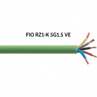 Flexible cable RZ1-K (AS) 5x1,5mm2 halogen free green