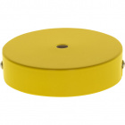 Ceiling rose D.10cm 1 hole 10mm metal yellow