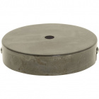 Ceiling rose D.10cm 1 hole 10mm metal (raw)