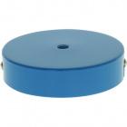Ceiling rose D.10cm 1 hole 10mm metal blue